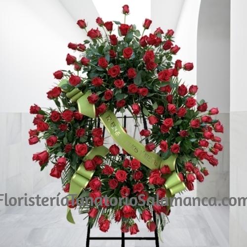 Corona de rosas para difuntos de Salamanca