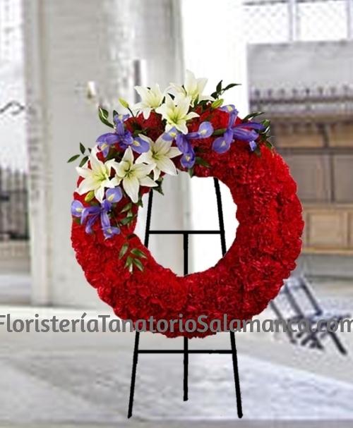 Corona funeraria de clavel Salamanca